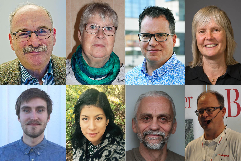 Några av årets föreläsare. Thomas Fürth, Anna-Lena Hultman, Peter Sjölund, Sonja Entzenberg, Karl Vesterberg, Maria Lembring, Rikard Erlandsson och Niklas Hertzman.