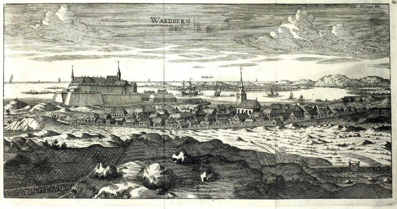 Varberg_Hallandia_antiqua_et_hodierna_1752