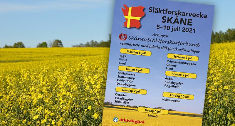 Släktforskarvecka Skåne 2021 webb