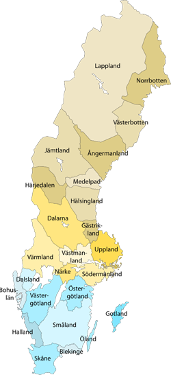 small provinces sweden